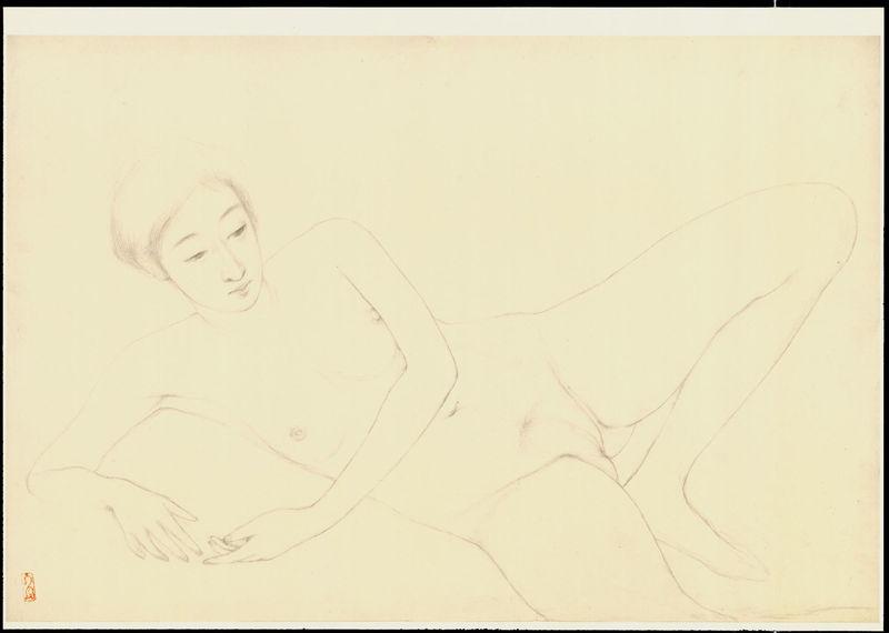 goyo hashiguchi 1880 1921 graphite on paper sketch 22