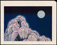 Hayashi Waichi - Cherry Blossoms at Night