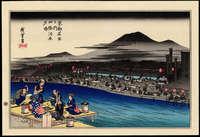 Ando Hiroshige- Evening Cool at Shijo Kawara