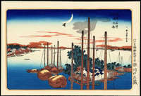 Ando Hiroshige- First Cuckoo Of The Year At Tsukudajima