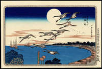 Ando Hiroshige- Full Moon Over Takanawai