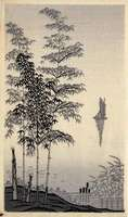 Imoto Tekiho - Bamboo and Sailboat