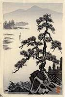 Imoto Tekiho - Pine Tree and River