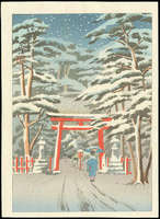 Ishiwata Koitsu - Yoshida Shrine in Snow