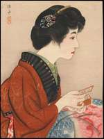 Ito Shinsui - Bijin Playing Karuta