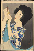 Ito Shinsui - Hanging a Mosquito Net