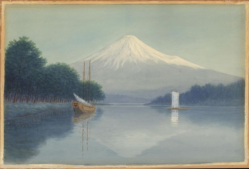 Matsumoto_Y-Sailboats_on_Lake_by_Mt_Fuji
