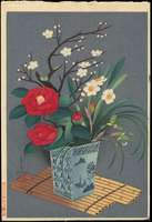 Ohno Bakufu - Flowers in Vase (Winter)