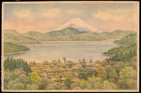 Ozawa J R - Town by Lake Near Mt Fuji