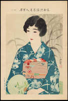Shinsui Ito - No. 18- Bijin in Yukata with Fan