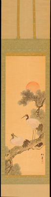 Shotei - Cranes in a Pine Tree