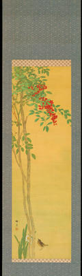 Shotei - Nandina and Sparrows