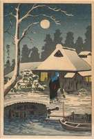 Shotei Takahashi - Evening, After Snowfall