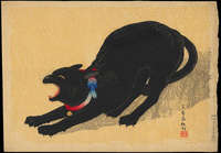Takahashi Shotei - Cat With Bell