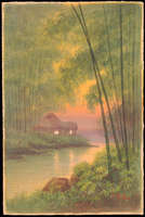 Tosuke S - Hut By River In Bamboo Grove