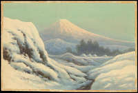 Tosuke S - Valley Town By Mt Fuji In Winter (B)