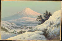 Tosuke S - Valley Town By Mt Fuji In Winter (A)
