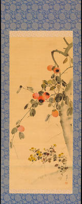 Watanabe Seitei - Persimmon and Finches