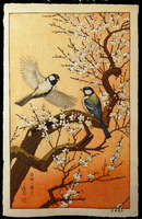 Yoshida Toshi - Spring - Flying Around the Plum Tree